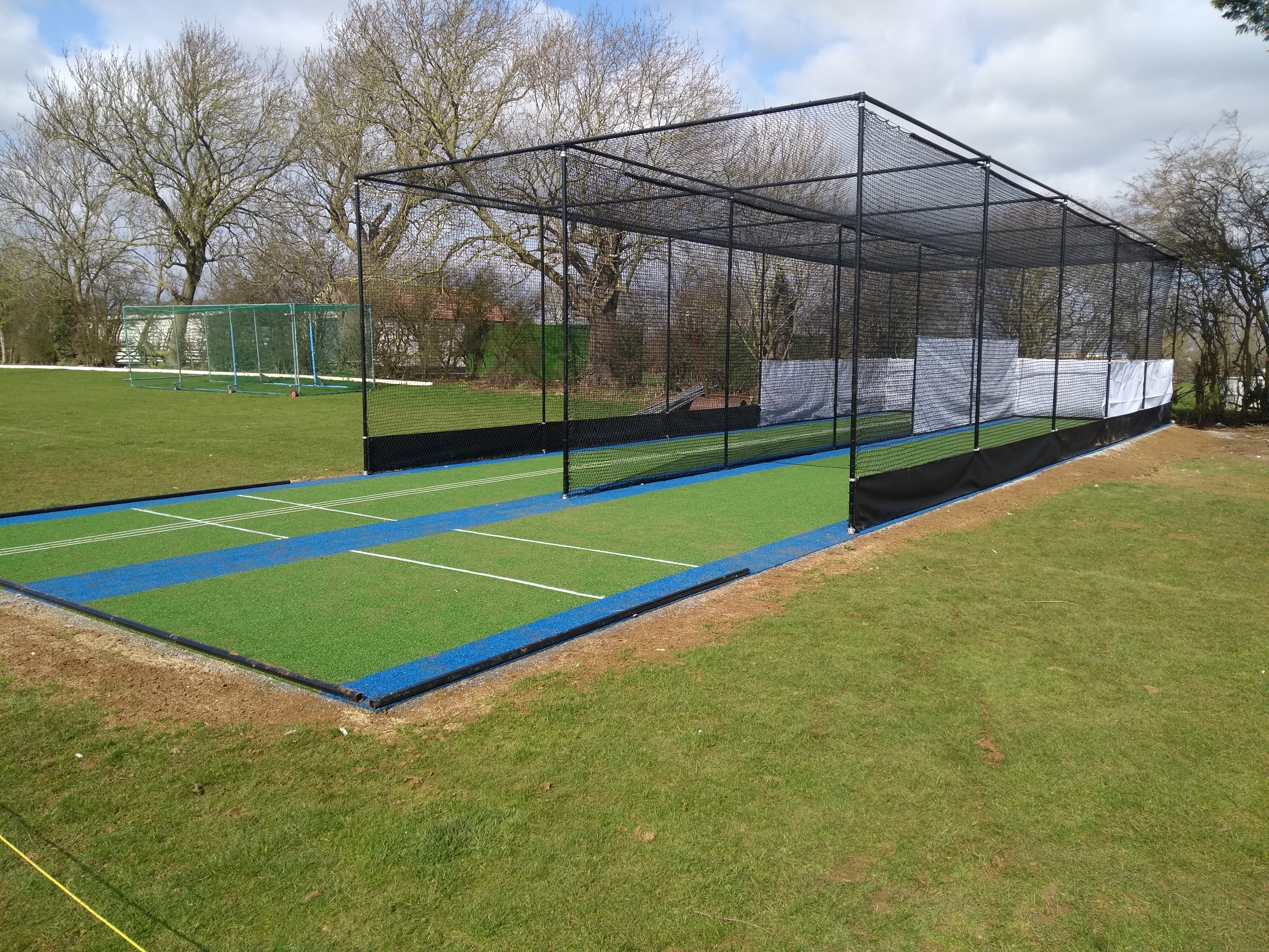 new total-play tp365 ECB approved practice facility at Isham CC