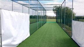 New total-play Ltd Artificial cricket practice nets at Low Moor Holy Trinity CC