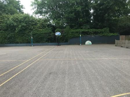 BEFORE The existing macadam tennis court at Rupert House School - Copy