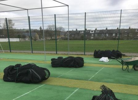 New cricket nets ready during total-play installation