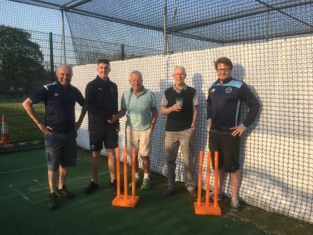 New total-play Ltd HD Protection Tunnel cricket netting at Burley CC - Copy