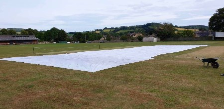 Beaminster CC Rain Cover cricket pitch covers