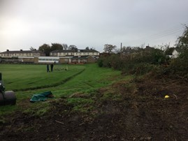 Before - the site at Church & Oswaldtwistle CC